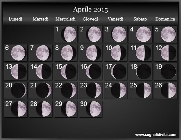 Calendario Del 1979.Calendario Lunare 2015 Fasi Lunari