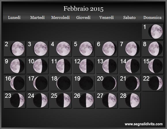 Calendario Lunare Per Capelli.Calendario Lunare 2015 Fasi Lunari