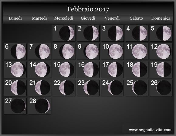 Calendario lunare 2017 fasi lunari Calendario 2017 con lunas