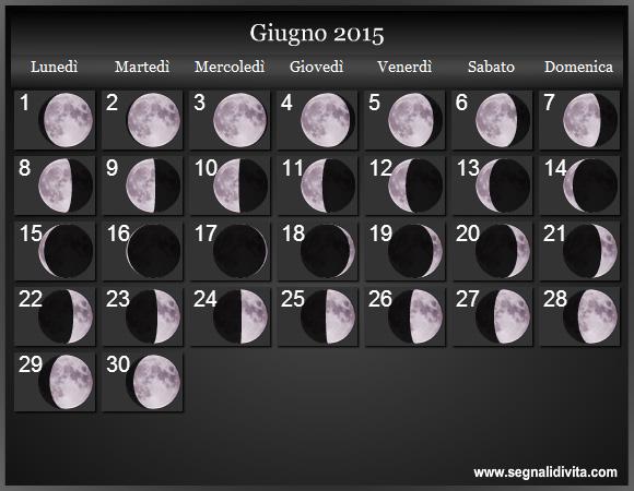 ... lunari del 2015. Calendario Luna. Calendario con fasi lunare del 2015