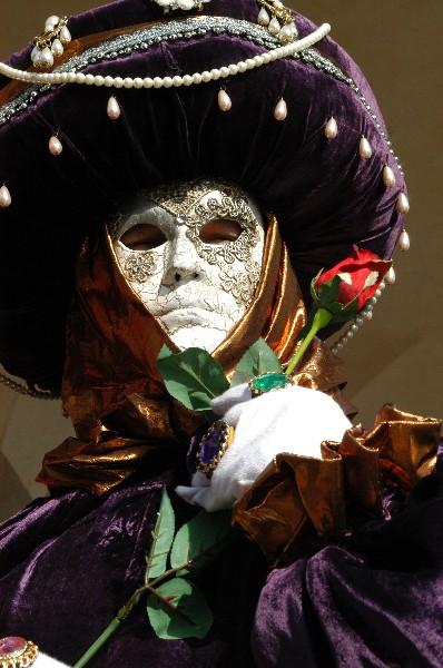 Abbigliamento viola - Carnevale di Venezia
