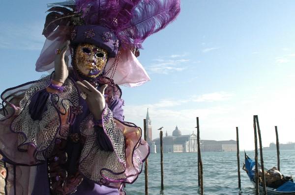 Piume viola - Carnevale di Venezia