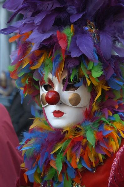 Clown piume colorate - Carnevale di Venezia