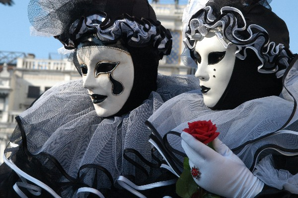 Coppia BlacK and Wite - Carnevale di Venezia