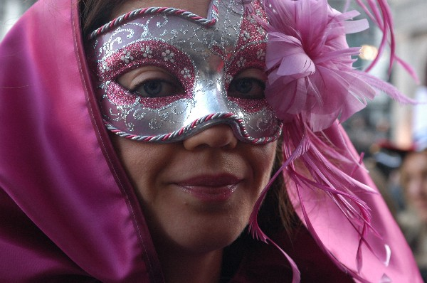 Fiore rosa - Carnevale di Venezia