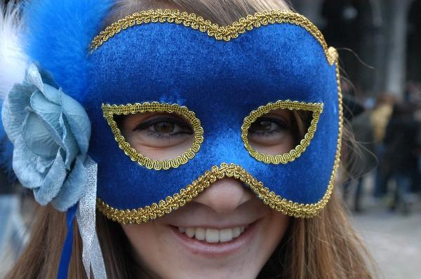 Maschera blu - Carnevale di Venezia