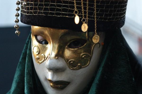 Maschera con pendagli - Carnevale di Venezia