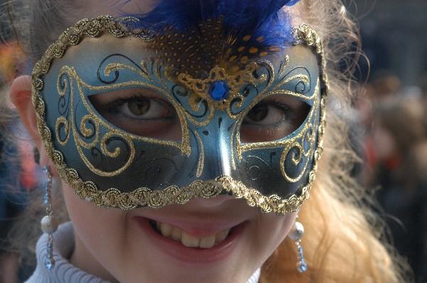 Maschera in blu - Carnevale di Venezia
