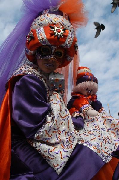 Mother arancio viola - Carnevale di Venezia