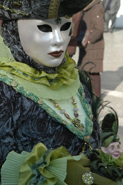 Raffiniture verdo olivo - Carnevale di Venezia